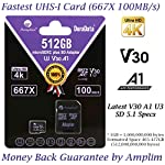 Amplim 64GB 128GB 32GB Micro SD Card Plus Adapter Pack MicroSD SDXC Class 10 U3 A1 V30 Extreme Pro Speed 100MB/s UHS-I UHS-1 TF MicroSDXC Memory Card for Cell Phone, Nintendo, Galaxy, Fire, Gopro 15 COMPATIBILE with all new 2016-2018 class10 high capacity micro SDXC or SD (Secure Digital) compatible phones such as Samsung Galaxy S9 S8 S7 Note 9 Note 8 Note 7, Sony Xperia, LG G7 V40, Nokia, Motorola Moto, USB readers, Nintendo Switch, Amazon Kindle Fire, Gopro, Microsoft Surface, PC, Mac, portable computers, drones, action cameras. COMPATIBILITY: Samsung Galaxy J8 J6 A9 A6 A6+ J7 Star Prime 2 S9 S9+ J2 Note 9 8 Tab S4 S3 J3 Book S8+ Plus S8 Active J7 V S7 Edge S7 Tab E Tab A (2018) S6; LG K30 G7 Q7 Q Stylus V40 V35 THINQ Zone 4 V30S K10 V30 V20 G6 K20 V Stylo 2 V Stylo 4 3 X Venture Charge Power G Pad F2 8.0 Pad X II; Sony Xperia XZ2 Premium Compact L2 XA2 Ultra Plus XZ1 L1 XZ; Nokia 7.1; Amazon Fire 7 Fire HD 8 Fire HD 10 and Kids edition. COMPATIBILITY Continued: Microsoft Surface 2 3 4 Pro LTE Surface Book Studio; Motorola Moto G6 G5 E5 E4 Play Plus X4 G5S Z2 Force Edition; HTC U12+ Desire 12 12+ U11 EYEs life U11+ Desire 555 One X10 Bolt; Huawei Y7 Prime Y6 Y3 Mate RS P20 10 Pro Lite MediaPad M5 M3 8 10 P Smart P9 lite MateBook Nova 2. Work with Verizon, AT&T, Sprint, T-Mobile, US Cellular, Unlocked and other carriers. Amazon Prime fast free shipping.