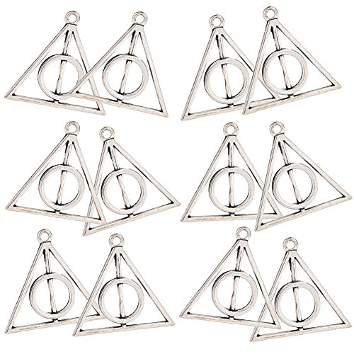 [Harry Potter Deathly Hallows Charm Pendant DIY for Jewelry Creation Making and Crafting | (12 Pieces) -] (Diy Voldemort Costume)