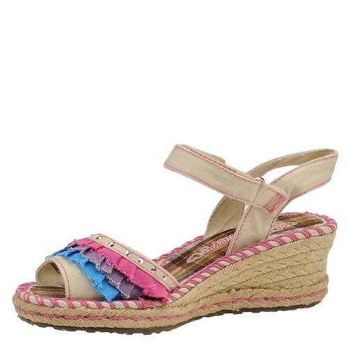 Sandales Skechers – Tikis Ruffle Ups Natural Blanc/Multicolore