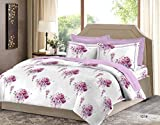 Bombay Dyeing Cotton King Size Bedsheet with 2 Pillow Covers-Pink