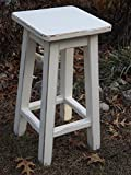 Heirloom white/bar stool/counter stool/wood/ distressed/ 25″-28″-30″ high