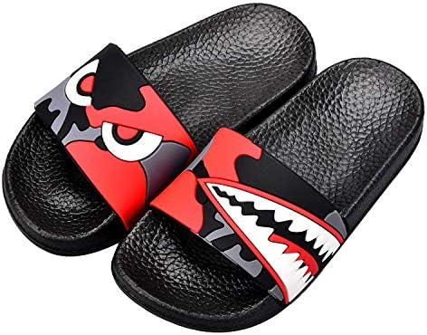 Kids Summer Slipper Fire Roaring Lion House Slippers Shower Slide Anti-Slip Beach Pool Bath Sandals for Boys Girls