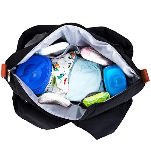 lekebaby cambiar pañales Bolsa Asa y Bandolera con cambiador de pañales para mamá uso diario