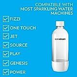 SodaStream Carbonating Bottle, 1 liter, White