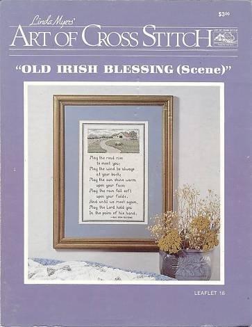 (Old Irish Blessing (Scene) - Leaflet 18, Counted Cross Stitch Sampler)