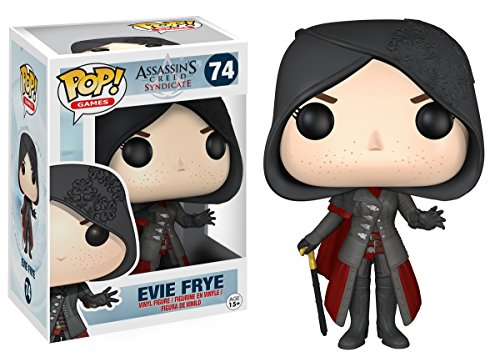 Funko POP Games: Assassin's Creed - Evie Frye Action Figure,Black