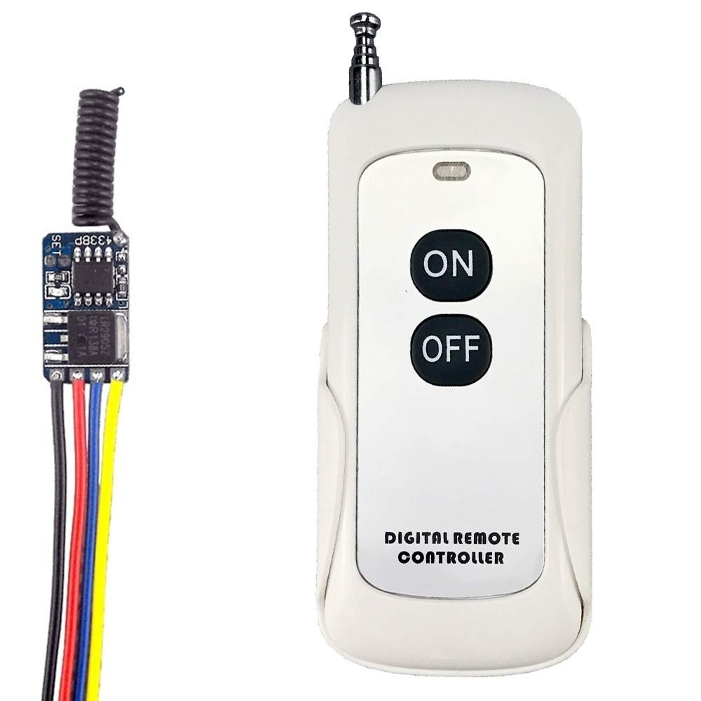 RF Remote Control Switch Relay Reset Circuit Battery Power Momentary Controller