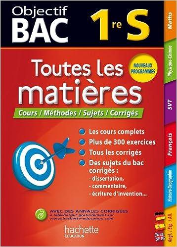 Objectif Bac - Toutes les matières 1re S (Francés) Tapa blanda – 17 jul 2013