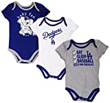 Majestic Los Angeles Dodgers Play Ball Infant 3-Pack Creeper Set