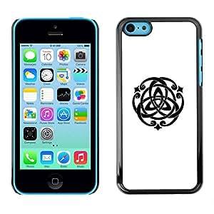 PC/Aluminum Funda Carcasa protectora para Apple Iphone 5C Spiritual Geometry Symbol Art / JUSTGO PHONE PROTECTOR