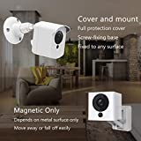 Wyze Cam Wall Mount Bracket, Wyze Camera Cover with Adjustable Wall Mount for Wyze Cam V2 V1 and Ismart Spot Camera Indoor Outdoor