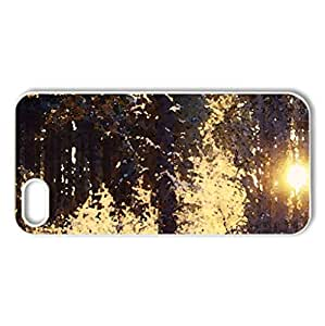 sun in the winter forest - Case Cover for iPhone 5 and 5S (Forests Series, Watercolor style, White)
