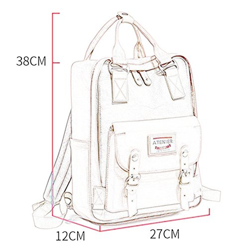 fresh Ice Backpack elementary college Korean bag Cherry the version Donuts junior school leisure versatile Blossoms bag high school Blue of small shoulder capacity large trend student female wind wq6EqfAFx