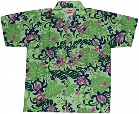 Produit Pacifique Camisa hawaiana tortuga niño Verde verde: Amazon.es: Ropa y accesorios