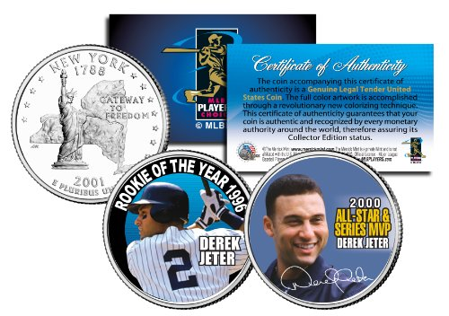 DEREK JETER *Rookie of the Year & World Series MVP* NY State Quarters 2-Coin Set (Derek Jeter Rookie Year)
