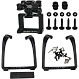 Updated Landing Gear Legs & Action Camera Gimbal Mount Holder Adapter Bracket for Syma X8 X8G X8HG X8C X8HC X8W X8HW RC Drone Quadcopter, Black