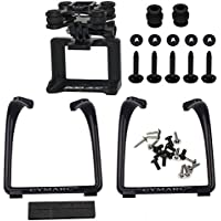 Updated Landing Gear Legs & Action Camera Gimbal Mount Holder Adapter Bracket for Syma X8 X8G X8HG X8C X8HC X8W X8HW MJX X101 RC Drone Quadcopter, Black