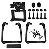 Updated Landing Gear Legs & Action Camera Gimbal Mount Holder Adapter Bracket for Syma X8 X8G X8HG X8C X8HC X8W X8HW RC Drone Quadcopter - Black