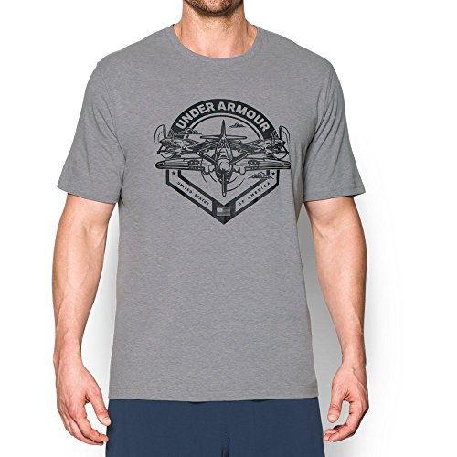 Under Armour Men's Freedom By Air T-Shirt, True Gray Heather (025)/Black, XX-Large