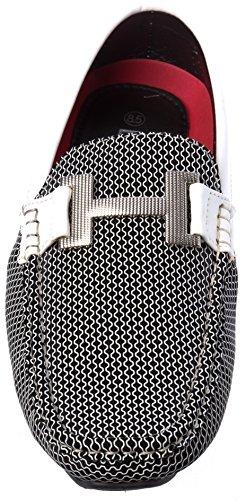 Brix Mens Slip-on Fashion-dagdrivaren Skor Vita