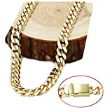 Gold chain necklace 14.5MM 24K Diamond cut Smooth Cuban Link with Warranty Of A LifeTimeLifetime USA made (22)