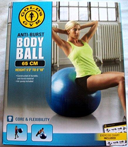 Gold's Gym 65 cm Anti-burst Body Ball by Golds Gym