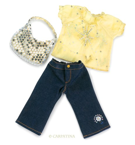 Starlight Blouse, Jeans and Sequins Bag - Fits 18