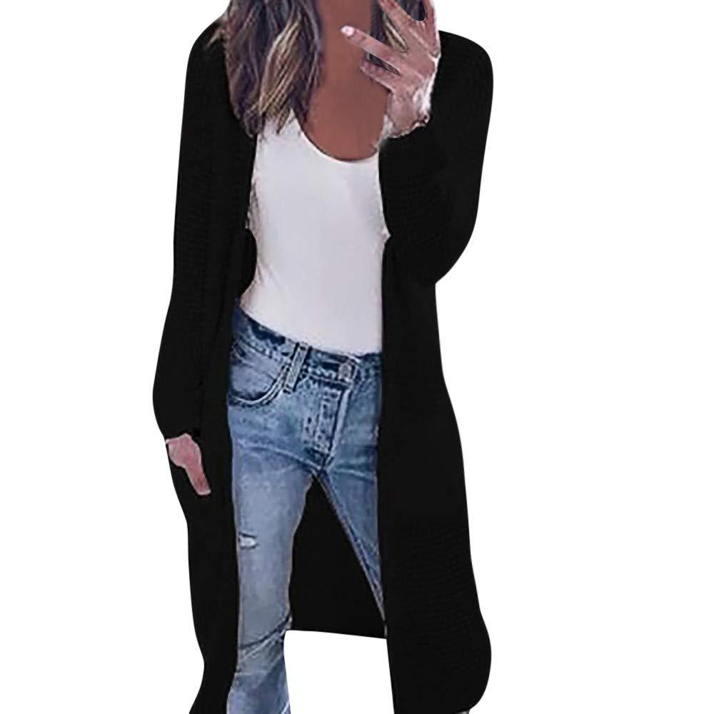 Cardigan Tops,BeautyVan Womens Long Sleeve Knitting Pockets Cardigan Tops Contrast Jacket Shirts