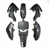Motorcycle Black Plastic Fender Kit Body Work Fairing Kit Compatible with Honda CRF XR XR50 CRF50 Clone 125CC Pit Dirt Bike HTTMT XFY