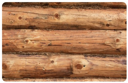 Bungalow Flooring New Wave Faux Flooring Mat, 2 by 3-feet, Log Jammer