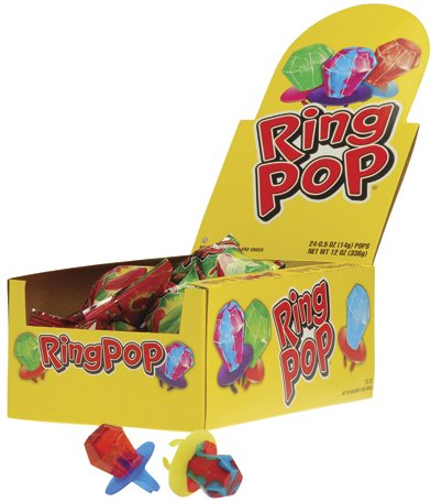 Ring Pops Candy- 24 Pieces (2 Pieces) - Ring Pops Candy- 24 Piecesring Pops Are A Classic Candy That All Kids Love. Add This Ring Pop To A Classroom Or Birthday Goody Bag. 24 Pieces Per Box.