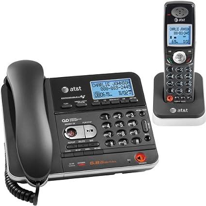 amazon com at t tl74108 5 8 dss corded cordless answering system rh amazon com Panasonic Cordless Phones First Cordless Phone