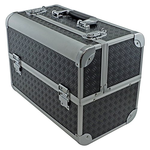- SRA Cases EN-AC-FC-B086-BK Toolbox, Fishing Tackle/Bait Case with Fold Out Trays, 14.1 x 11 x 8.5