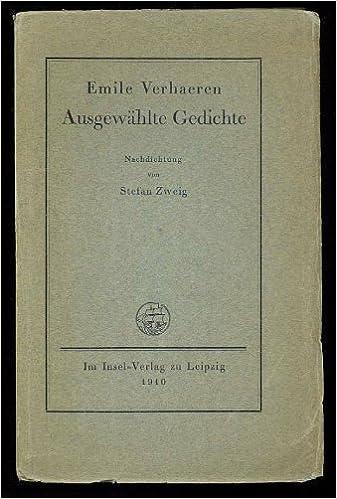 Ausgewählte Gedichte Nachdichtung Von Stefan Zweig Emile