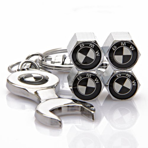 BMW Tire Valve Caps with Bonus Wrench Keychain(BW)