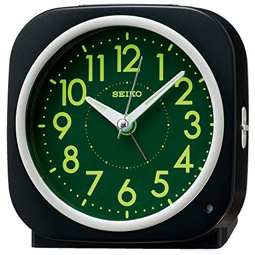 (SEIKO CLOCK ( Seiko clock ) automatic lights alarm clock ( black ) corner KR889K)