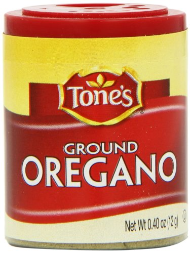 Tone's Mini's Oregano, Ground, 0.40 Ounce (Pack of 6) by Tone's