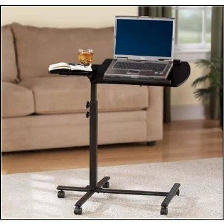 Mainstays Black Metal Frame Deluxe Adjustable Laptop Stands Cart Featuring 5 Set Positions by Mainstays