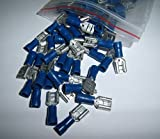 100 Vinyl Female Wire Terminal Blue 16-14 Ga AWG Quick Disconnect Connectors