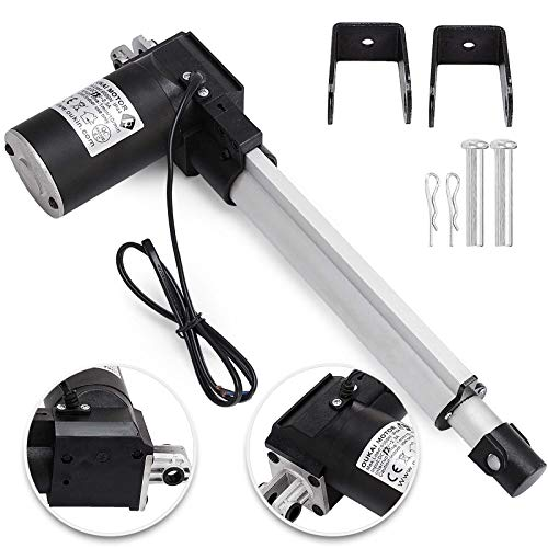 Happybuy 8 Inch Stroke Linear Actuator DC 12V Electric Moto Heavy Duty 6000N/1320LB Linear Actuator for Recliner TV Table Lift Massage Bed Electric Sofa Linear Actuato