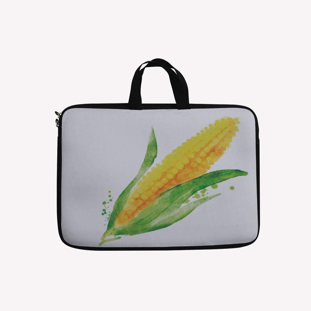 3Dプリントダブルジッパーラップトップバッグ、バイオレット植物ロマンティックテンダーシーズンフィールド、14インチキャンバス防水ラップトップショルダーバッグ、14インチ/14.1インチラップトップと互換性あり 14 inch(14.3