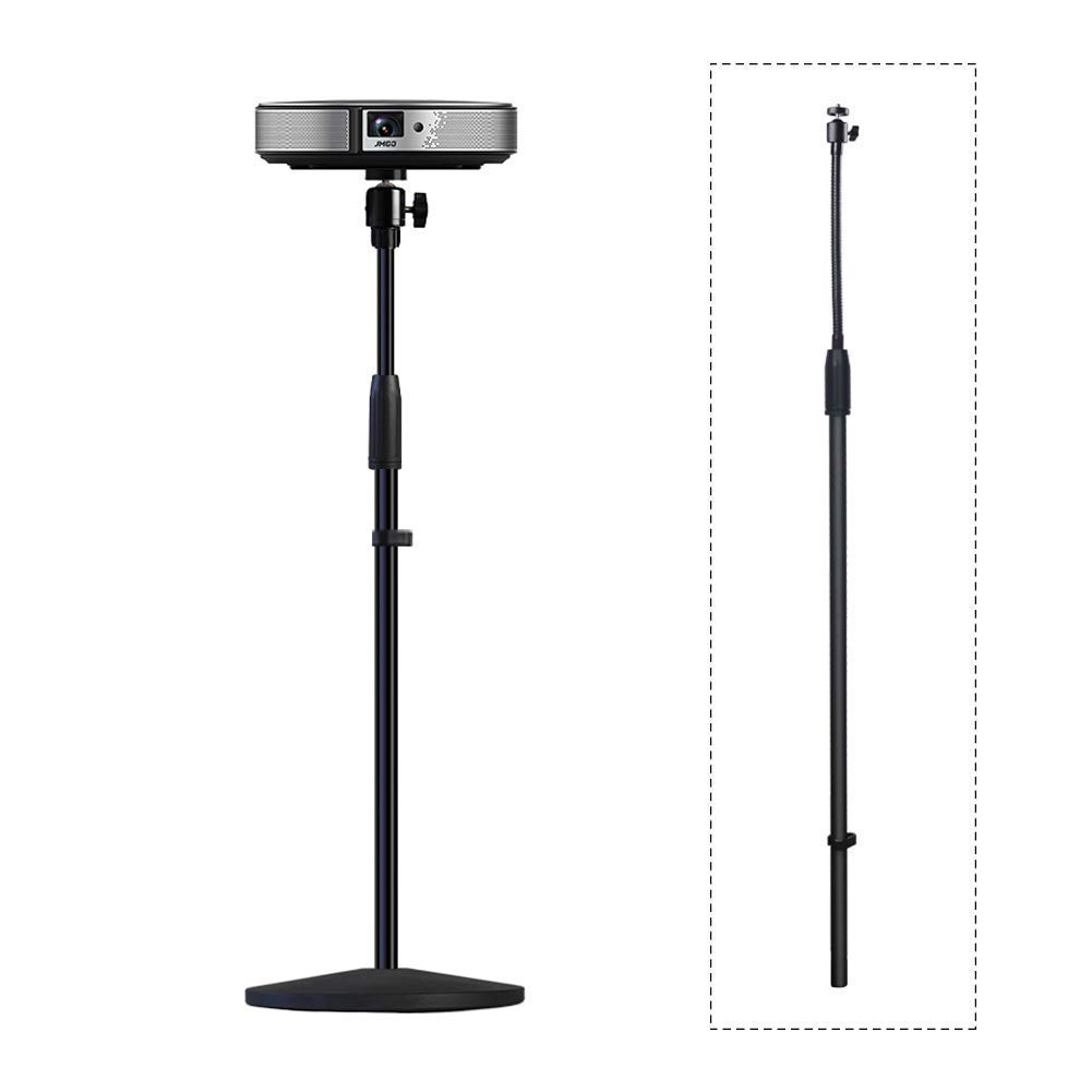 Projector Stand,Long Rod Part,LANMI Adjustable Mount Floor Stand Length can be Adjusted, Soft Iron Pipe can be flexibly Adjusted,31.5''-63'',fit 6.6lbs or Less(LU-182-hard)