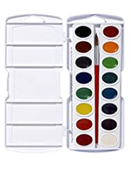 Prang Oval Pan Watercolor Set, 16 Classic Colors with No. 9 B...