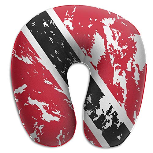 NiYoung Women Men Boys Girls Trinidad and Tobago Flag Memory Foam U-Shaped Pillow - Travel Aircraft Car Office Rest Neck Pillow with Removable Pillowcase ()