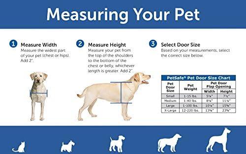 PetSafe Freedom Puerta de aluminio para mascotas para perros y gatos, color blanco, solapa de vinilo tintado, Blanco, Mediano 8