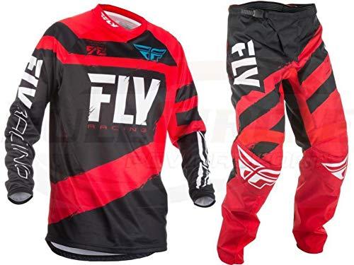 Fly Racing Red F-16 Jersey & Pant Combo Set MX/ATV 2018 Riding Gear (Adult Medium / 36)