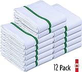 Desai® Kitchen Towel Set, 12 Pack, Hypoallergenic 100% Pure Organic Cotton, Tea Towels