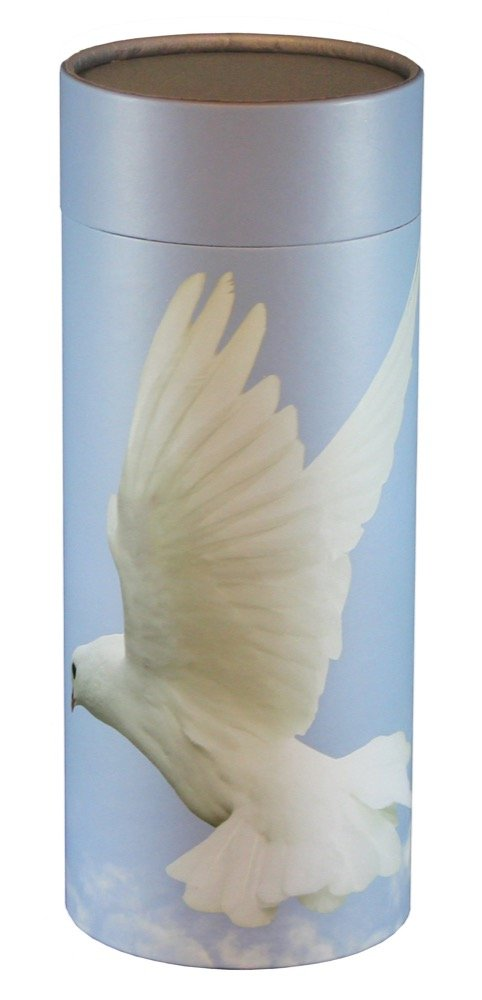 Cherished Urns Ascending Dove Design Eco-Friendly Scattering Tube - Large Adult