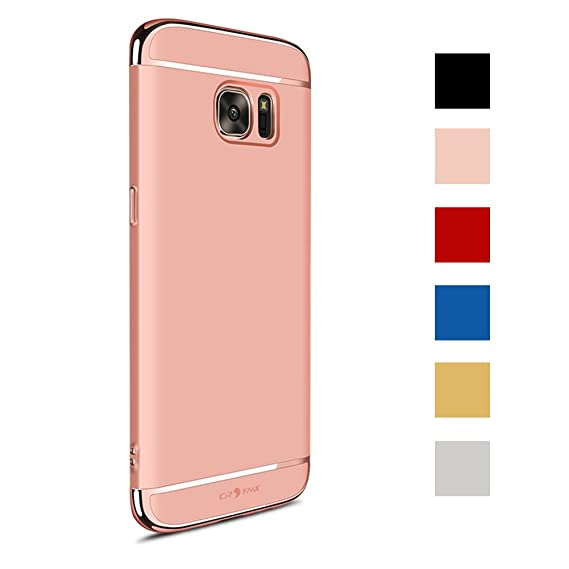 buy popular f3e89 dfc6f Samsung Galaxy S7 Case Back Cover, Ultra Slim & Rugged Fit Shock Drop Proof  Impact Resist Hard Protect Case for Samsung Galaxy S7 (5.1'')(2016) - Rose  ...