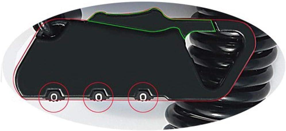 decaden Fahrradschloss,Kabelschloss Portable,Fahrrad Motorrad Diebstahlsicherung Tragbares Kombinationsschloss 3-stellige Passworteinstellung Helmschloss